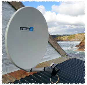 Fibreglass satellite dish