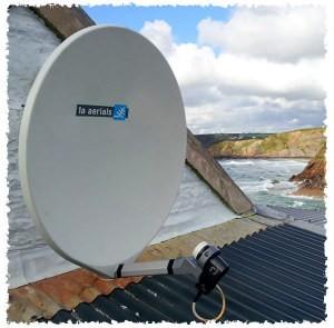 Fibreglass satellite dish