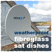 weatherproof satellite dish