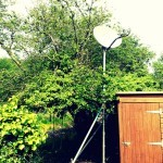 Avanti Satellite Broadband supplied by our friends at Criccieth TV and installed by us. (With a bit of pole prep work done by the customer of course!)